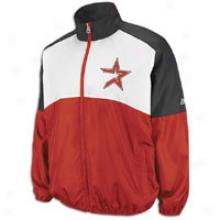 Astros Majestic Mlb Sports Night Lightweight Jacket - Mens - Crimson