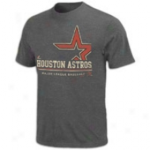 Astros Majestic Mlb Submariner T-shirt - Mens - Charcoal