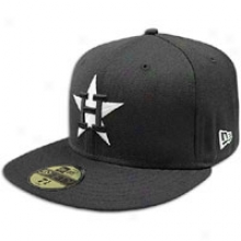 Astros New Era Mlb 59fifty Black & White Basic Cap - Mens - Black/white