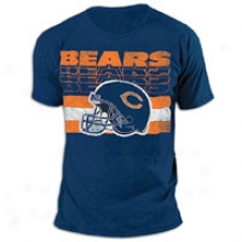 Bears G-iii Nfl Helmet Tri-blend T-shirt - Mens - Navy
