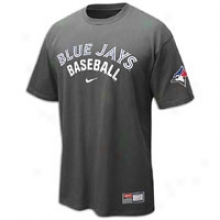 Blue Jays Nike Practice T-shirt 11 - Mens - Anthracite