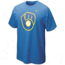 Brewers Nike Mlb Cooperstown Dugout Logo T-shirt - Mens - Royal