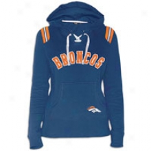 Broncos Touch Nfl Lace-up Hoodie - Womens - Navy