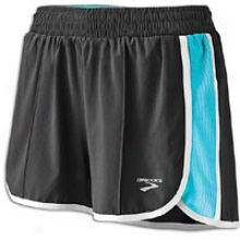 Brooks Epiphany Stretch Short Ii - Womens - Black/aqua/white