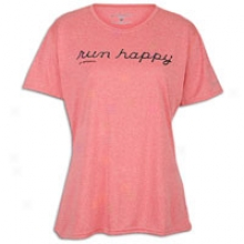 Brooks Ez T Run Happy T-shirt - Womens - Heather Rouge