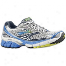 Brooks Ghost 4 - Mens - White/obsidian/strong Blue/silver/pavement