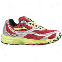 Brooks Launch - Womens - Persian Red/sunny Lime/white/silver/black