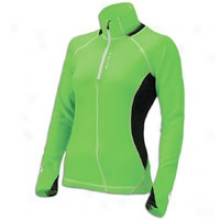 Brooks Nightlife Podium 1/2 Zip - Womens - Brite Green