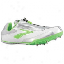 Brooks Pr Sprint 11.38 - Womenw - Neon Grren/silver/pearlized White