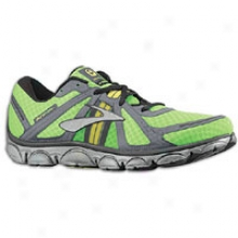 Brooks Pureflow - Mens - Anthracite/black/silver/brite Green/nightlife