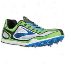 Brooks The Wire 2 - Mens - White/brooks Brite Green/brilliant Blue/black