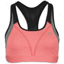Brooks Versatile Bra - Womens - Heather Rouge/heather Slate