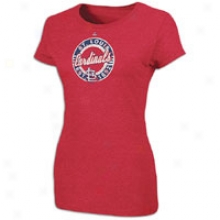 Cardinals Majestic Mlb Retro T-shirt - Womens - Red Pepper Heather