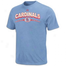 Cardinals Majestic Mlb Team Archive T-shirt - Mens - Coastal Blue