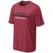 Cardinals Nike Nfl Dri-fit Authentic Font T-shirt - Mens - Red