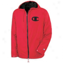 Champion Breezes Coaches Jacket - Mens - Crimson/black