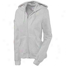 Champion Fleece Full Zip Hoodie - Womens - Oxford Grey