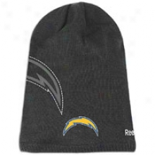 Chargers Reebok Nfl Sideline 2nd Season Knit Cap - Mens - Black