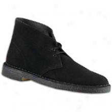Clarks Desert Boot - Mens - Black Suede