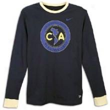 Club America Nike Club Amerida 95thA nniversary Core T-shirt - Menz - Obsidian/oale Yellow