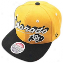 Colorado Zephyr College Shadow Script Snapback - Mens - Gold