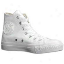 Converse All Star Leather Hi - Mens - White/monochrome