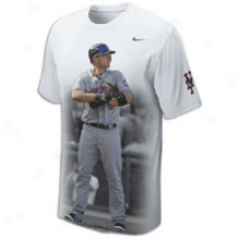 David Wright Nike Cleanup Player T-shirt - Mens - White