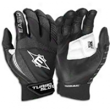 Easton Turboslot Ii Hitting Gloves - Mens - Black/black