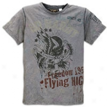 Ed Hardy Born Free Eagle T-shirt - Mens - Dark Grey