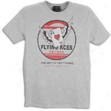 Ed Hardy Flying Ace Basic S/s T-shirt - Mens - Heather Grey