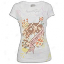 Ed Hardy King Panther Scoop Neck Tunic - Womens - White