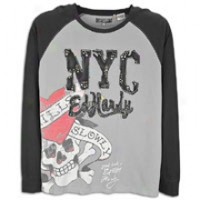 Ed Hardy Lks Pascal Raglan T-shirt - Mens - Grey