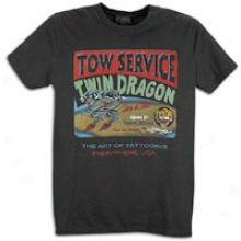 Ed Bold Twin Dragons Basic S/s T-shirt - Mens - Black