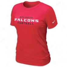 Falcons Nike Nfl Team Wordmark T-shirt - Womens - Gym Red