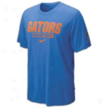 Florida Nike College Elite Dri-fit Fadeaway T-shirt - Mens - Royal