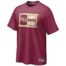 Florida State Nike College Team Issue T-shirt - Mens - Red-maroon
