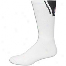 For Bare Feet Nba Basket Sock - Mens - White/black