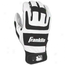 Franklin Shok-sorb Pro Batting Gloves - Mens - Pearl/black
