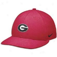 Georgia Nike Sideline Swooshflex Crown - Mens - Red