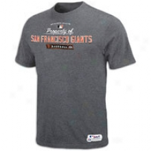 Giants Majestic Authentic Mlb T-shitt - Mens - Steel