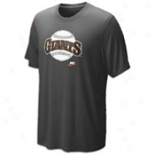 Giatn Nike Cooperstown Dri-fit Legend T-shirt - Mens - Black