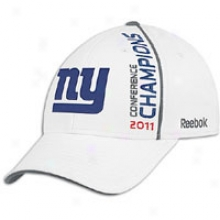 Giants Reebok Nfl Connference Champions Hat - Mens - White