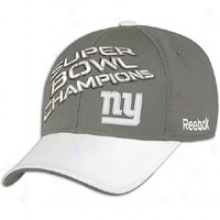 Giants Reebok Superbowl Champions Locker Room Hat - Mens - Grey