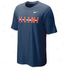 Illinois Nike College My Schools Local T-shirt - Mens - Navy
