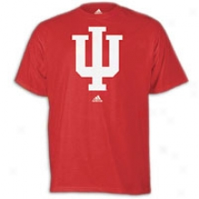 Indiana Adidas School Logo T-shirt - Mens - Victory Red