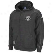 Jaguars Reebok Nfl Sideline Static Storm Hoodie - Mens - Black