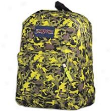 Jansport Super Break Backpack - Alien Green Leaf Camo
