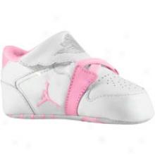 Jordan 1st Crib - Infants - White/per fect Pink/metallic Soft and clear