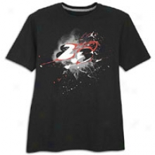 Jordan 8.0 23 T-shirt - Mens - Black/matte Silver/varsity Red
