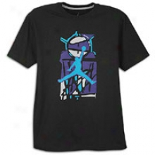 Jordan 8.0 Primary Colors T-shirt - Mens - Black/concord/aaquatone